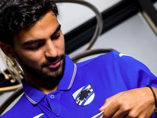Léris firmó su nuevo contrato. Twitter/sampdoria