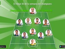 La UEFA elige el mejor XI de la semana en Champions. BeSoccer