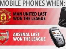 Así eran los móviles cuando United, Arsenal, Liverpool y Tottenham ganaron su última liga. Twitter