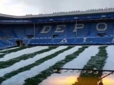 Alavés v Atlético at risk due to snow. Twitter/Alaves