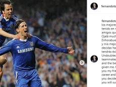 Torres se despide. Instagram/FernandoTorres