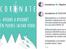 Ambos tratan de recaudar dinero para donar material sanitario. Instagram/iscoalarcon