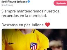 Raúl se despede de Julione. Twitter/saulniguez