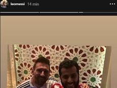 Le clin d'oeil de Messi à Almeria. Captura/LeoMessi