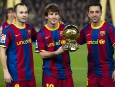 Messi falou da época dourada do Barcelona. VisualSports