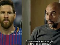 Guardiola émerveillé par Messi. Capture/Amazon