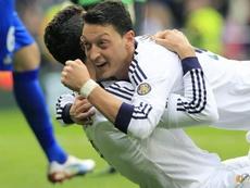 Özil recuerda a su mejor amigo en el Madrid. EFE