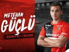Metehan Guclu, nuevo jugador del Rennes. Twitter/staderennais
