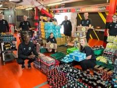 Bournemouth faz gigante doação de alimentos. Twitter/AFCBournemouth