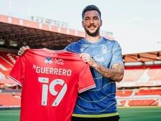 El delantero jugó la temporada pasada en el Leganés. Twitter/NFFC