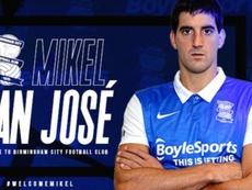 San José, nuevo jugador del Birmingham. Twitter/BCFC