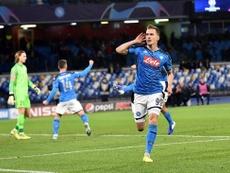 Milik regala la vittoria al Napoli. Twitter/LFC