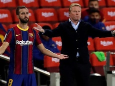 Miralem Pjanic and Ronald Koeman are happy with Barca's youth. EFE