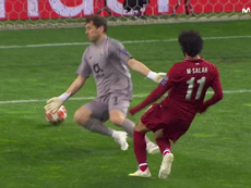 Le but de Salah. Capture/Movistar