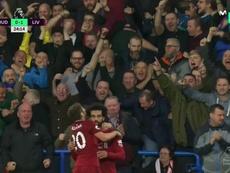 Salah volvió a marcar. Captura/Casadelfutbol