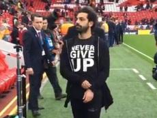 Il messaggio di Salah. Captura/Liverpool