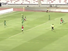Mohsen Mohammed escenificó en un gol la fuerza de un país en conflicto. Captura/KSASports