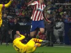Iturralde a donné son avis sur l'action entre Piqué et Morata. Capture/Movistar