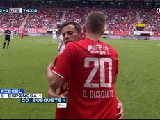 Oriol Busquets debutó con el Twente. Captura/SkySports