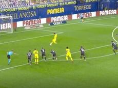 Samu did not have a direct influence on the penalty. Screenshot/MovistarLaLiga