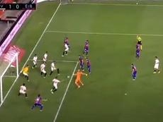 Minuto 101: Ocampos se puso portero ¡y salvó el gol de Dmitrovic! Captura/Movistar+