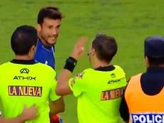 Arias fue expulsado, supuestamente, por intentar agredir al árbitro. Captura/TNTSportsLA