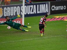 Flamengo dio el primer golpe a Fluminense.Twitter/Flamengo