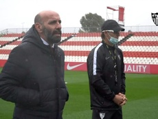 Monchi defended his ex-teammate. Screenshot/SevillaFC