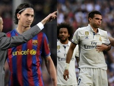 Montaja con Zlatan Ibrahimovic y Pepe. AFP/EFE