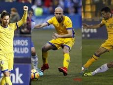El trío defensivo ha mantenido al Alcorcón en la parte alta. EFE/LaLiga