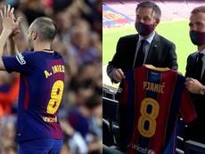 El centrocampista hereda el dorsal de Iniesta. EFE/Captura/BarçaTV