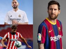 Las equipaciones de los equipos de Primera División para la 2020-21. RealMadridCF/FCBarcelona/EFE