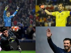 Los porteros que hubieran ganado el Trofeo Yashin los últimos 19 años. EFE/AFP