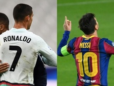 Quem fez mais hat-tricks: CR7 ou Messi? AFP - EFE