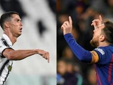 Quem fez mais poker e repoker (ou manita), Cristiano Ronaldo ou Messi? AFP - EFE