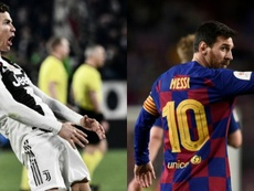 Goles de Messi vs Cristiano en la fase final de Champions League. EFE