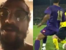 Osvaldo felicitó a Messi y le recordó el caño que le hizo. Capturas/ESPN