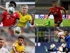 El 'top ten' de candidatos al Golden Boy 2020 con mejor rendimiento. AFP