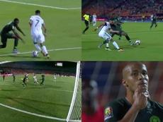 Le génie de Mahrez provoque le contre son camp de Troost-Ekong. Capturas/Eurosport