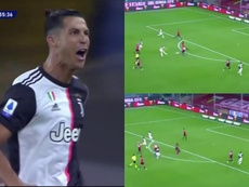 CR7 faz um lindo gol. Capturas/ESPN
