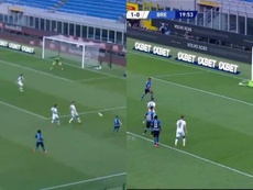 Two ex-United men were key for Inter in the first half. Capturas/ESPN2