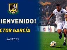 El lateral Víctor García firma por el Alcorcón. Twitter/AD_Alcorcón