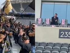 Torcedores do Los Angeles FC trollam Beckham. Capturas/Goal