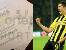 Lewandowski tenía ya un acuerdo verbal con el Bayern. AFP/OnetSport