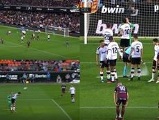 El Valencia se llevó la victoria con tanto de Soler. Captura/LaLigaSantander