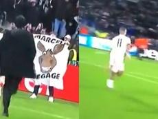 Une banderole contre Marcelo provoque la rage de Depay. Captures/Canal+