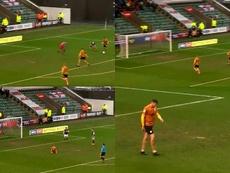 El delantero falló en el punto de penalti un gol cantado. Captura