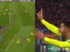 Así fue el gol mal anulado de Ángel por el que rajó Bordalás. Capturas/Movistar