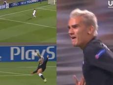 Le Camp Nou en rêve de voir Griezmann marquer un tel but. Captures/UEFA