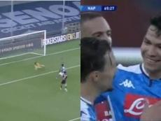 Lozano le dio tres puntos vitales al Nápoles. Capturas/FOXSports